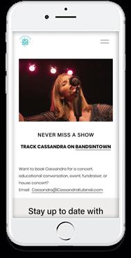 Website for singer-songwriter